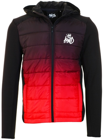 Kings Will Dream Black/Red Hybrid Ombre Jacket  - Click to view a larger image