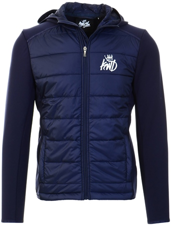Kings Will Dream Navy Morston Hybrid Jacket  - Click to view a larger image