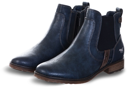 Mustang Navy Flat Chelsea Boot  - Click to view a larger image