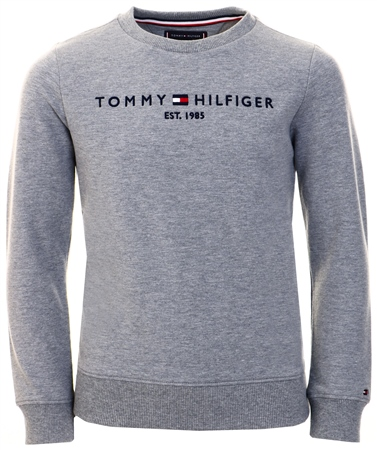Tommy Jeans Mid Grey Htr Essential Logo Sweatshirt  - Click to view a larger image