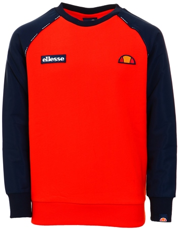 Ellesse Navy / Red Zapha Raglan Sweat  - Click to view a larger image