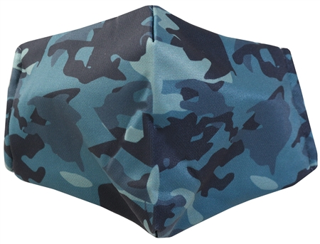 Dv8 Green Camouflage Fashion Face Mask  - Click to view a larger image