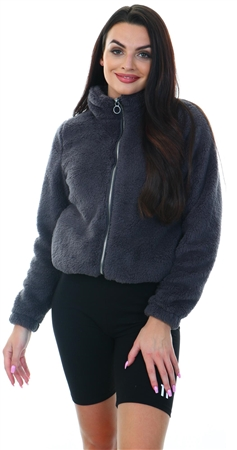 Only Magnet Emmy Teddy Zip Jacket  - Click to view a larger image