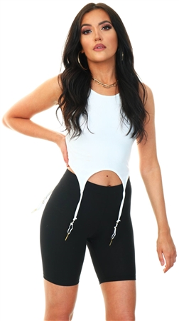 Pieces Black / Black Basic Bike Shorts  - Click to view a larger image