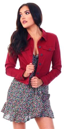 Veromoda Cabernet Hot Soya Long Sleeve Denim Jacket  - Click to view a larger image