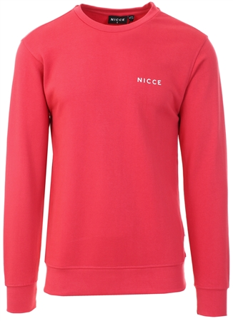 Nicce Holly Berry Loopback Chest Logo Sweat  - Click to view a larger image