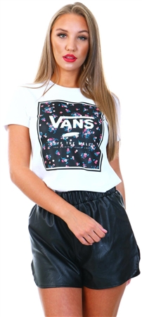 Vans White Boxed In Crew Tee  - Click to view a larger image