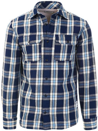 Jack & Jones Blue / Navy Blazer Corduroy Shirt  - Click to view a larger image