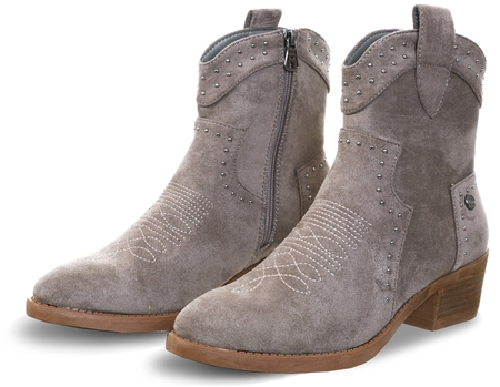 Refresh Taupe Suede Zip Boot  - Click to view a larger image