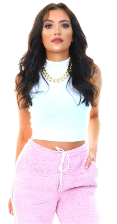 Brave Soul White Ribbed Crop Top  - Click to view a larger image
