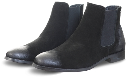 Jack & Jones Black Peter Suede Boots  - Click to view a larger image