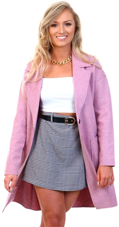 Only Pink / Misty Rose Knitted Coatigan  - Click to view a larger image