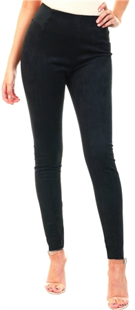 Jdy Black Faux Suede Leggings  - Click to view a larger image