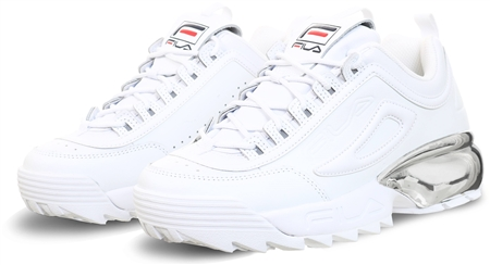 Fila White / Chrome Disruptor 2 Trainers  - Click to view a larger image