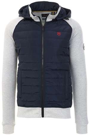 Xv Kings Smoke Mix Casvarina Padded Front Guilted Jacket  - Click to view a larger image