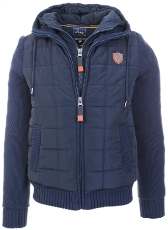 Xv Kings Classic Navy Cape Breton Double Zip Coat  - Click to view a larger image