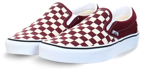 Vans Port Royale/True White Checkerboard Classic Slip-On Shoes  - Click to view a larger image