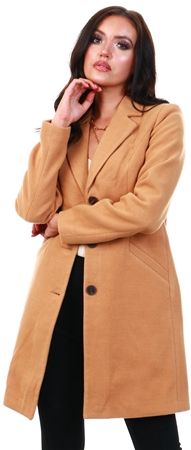 Veromoda Tobacco Brown Long Jacket  - Click to view a larger image