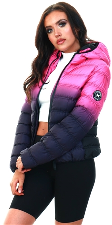 Goodfornothing Pink Element Gradient Pink Puffer Jacket  - Click to view a larger image