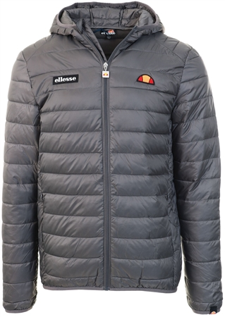 Ellesse Dark Grey Lombardy Padded Jacket  - Click to view a larger image