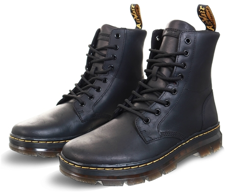 Dr Martens Black Matte Combs Boots  - Click to view a larger image