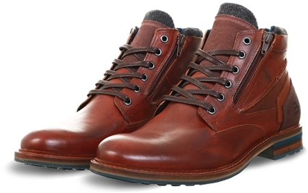 Bull Boxer Brown Leather Lace Up Boot  - Click to view a larger image