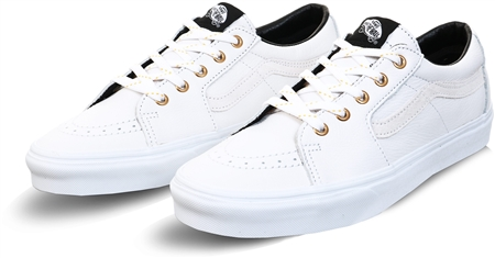 Vans True White Leather Sk8-Low Shoes  - Click to view a larger image
