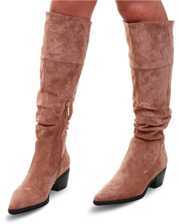 Una Healy Tan Knee High Suede Boot  - Click to view a larger image
