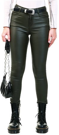 Vila Forest Night Commit Coated Trousers  - Click to view a larger image