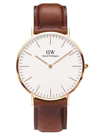 Daniel Wellington Rose Gold Classic St Mawes 40mm  - Click to view a larger image