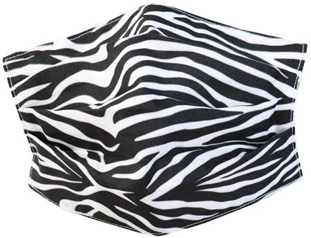 Brave Soul Black/White Zebra Fashion Woven Mask  - Click to view a larger image