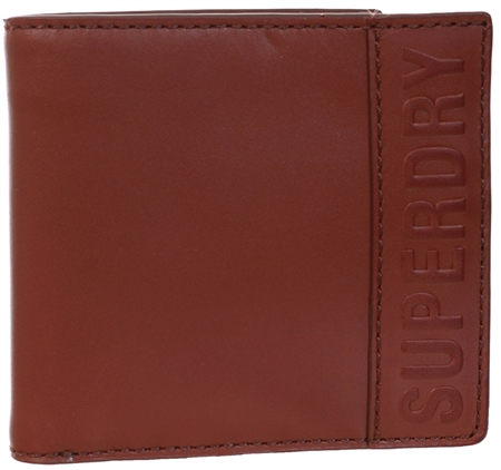 Superdry Tan Vermont Bifold Leather Wallet  - Click to view a larger image