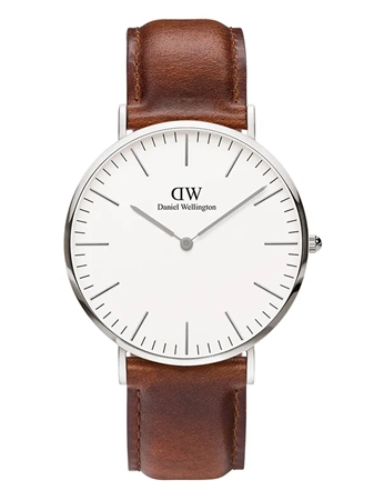 Daniel Wellington Silver Classic St Mawes 40mm  - Click to view a larger image