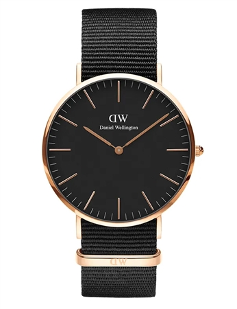Daniel Wellington Black Rose Gold Classic Cornwall 40mm  - Click to view a larger image