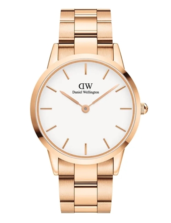 Daniel Wellington Rose Gold White Iconic Link 40mm  - Click to view a larger image