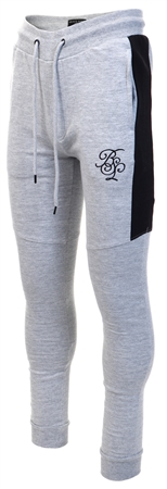 Brave Soul Grey Marl / Black Skinny Fit Joggers  - Click to view a larger image