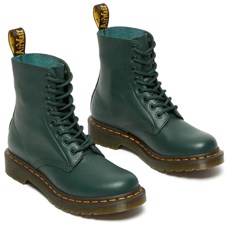 Dr Martens Green 1460 Smooth Leather Ankle Boots  - Click to view a larger image