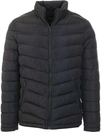 Brave Soul Black Moorgate Padded Jacket  - Click to view a larger image