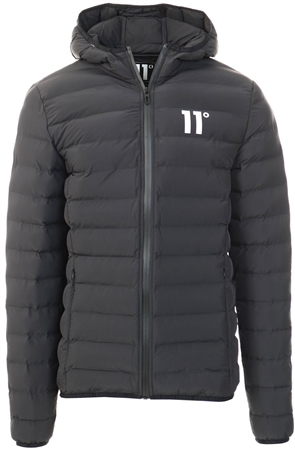 11degrees Black Space Puffer Jacket  - Click to view a larger image