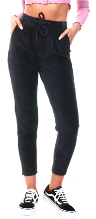 Only Black Poptrash Corduroy Trousers  - Click to view a larger image