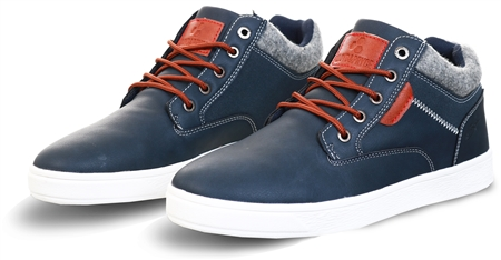 Lloyd & Pryce Midnight Navy Panel Lace Up Trainer  - Click to view a larger image