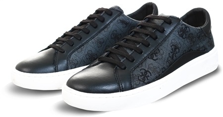 Guess Black Verpel 12 Logo Sneaker  - Click to view a larger image