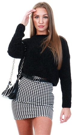Only Black / Black Knitted Pullover  - Click to view a larger image