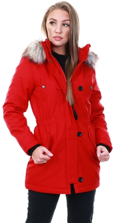 Only Red / Chili Pepper Long Parka  - Click to view a larger image