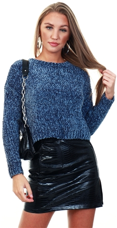 Only Blue Knitted Pullover  - Click to view a larger image