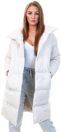 Tokyo Laundry Stone Puffer Longline Jacket  - Click to view a larger image