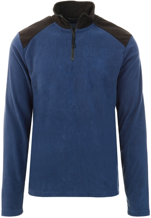 Brave Soul Navy / Black Half Zip Sweater  - Click to view a larger image