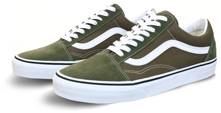 Vans Grape Leaf/True White Old Skool Shoes  - Click to view a larger image