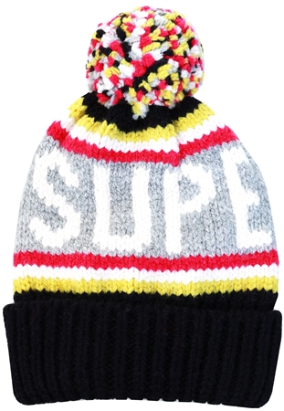 Superdry Dark Navy Neon Beanie  - Click to view a larger image
