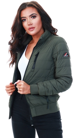 Superdry Army Khaki Fuji Bomber Jacket  - Click to view a larger image